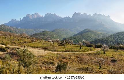 Montserrat mountain view at sunrise(Catalonia, Spain)