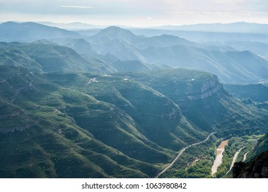 Montserrat mountains in Spain