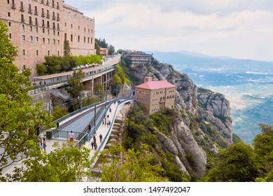 Montserrat is a spectacularly beautiful Benedictine monk mountain located near Barcelona, Spain