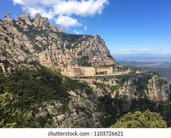Montserrat temple, Spain - view from above