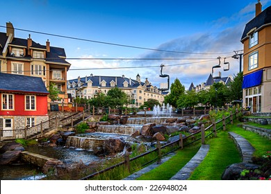 Mont-tremblant village in beautiful day.