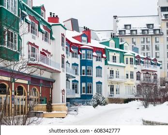Mont-Tremblant village street in winter