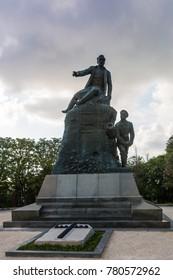 The monument to Admiral Kornilov in Sevastopol on the Malakhov Hill