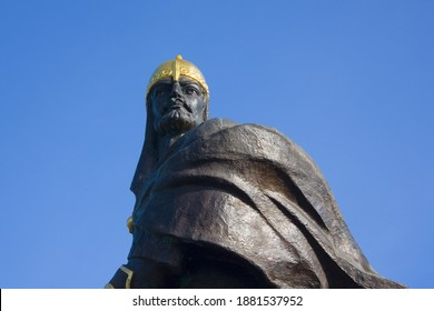 Monument to the ancient Prince Mal in Korosten, Ukraine - Shutterstock ID 1881537952