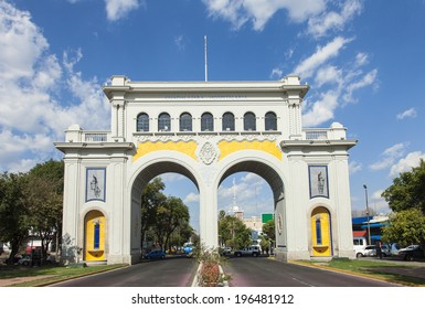 Monument arches entry to the city of Gudalajara, Jalisco, Mexico.
