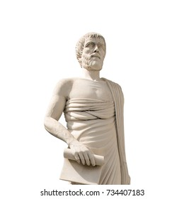 Monument to Aristotle isolated on a white background