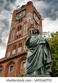 Monument of astronomer Nicolaus Copernicus, Torun, Poland
