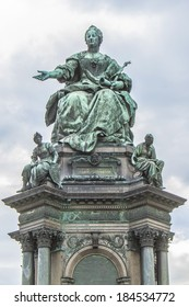 Monument of Austrian Empress Maria Theresia in Vienna, Austria, Europe. The monument was built by Kaspar von Zumbusch in the year 1888.