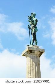 Monument of Belgrade winner at fortress Kalemegdan - Serbia