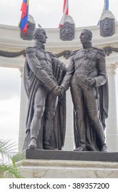 Monument of Bolivar and San Martin in Guayaquil Ecuador