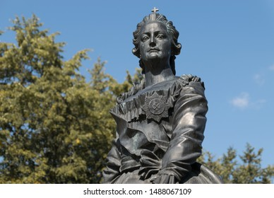 Monument to Catherine II (Catherine the Great) in Pushkin (Tsarskoye Selo), Russia