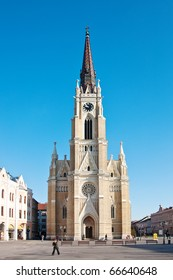Monument catholic cathedral in the town of Novi Sad, Serbia.