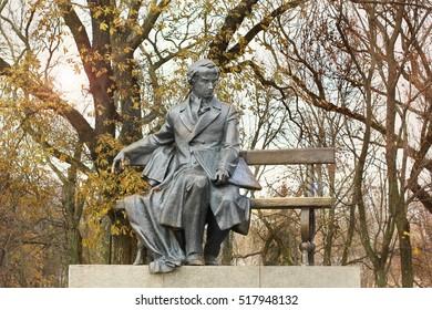 Monument. Chernihiv. Ukrainian poet Taras Shevchenko, writer, artist, public and political figure. Folklore. History. Ukraine