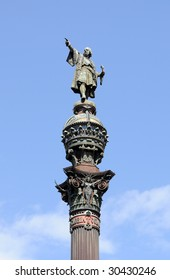 Monument of Christopher Columbus at end of La Rambla, Barcelona, Spain