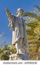 Monument to Christopher Columbus in Santa Margherita Ligure, Italy