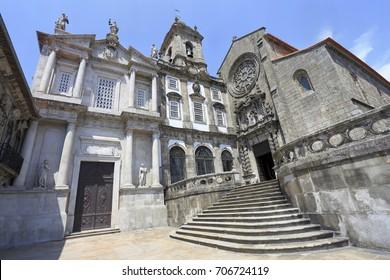 Monument Church Of St Francis (Sao Francisco) facade in Porto, Portugal