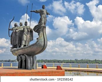 Monument to city founders in Kiev, Ukraine
