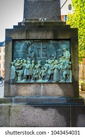 Monument in Copenhagen, the capital of Denmark