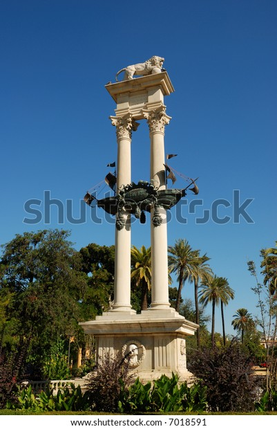 Monument dedicated to the discovery of America, Seville, Spain