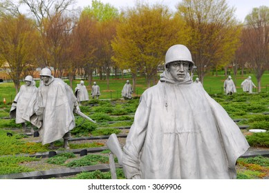 Monument dedicated to the US soldiers of the Korean War in Washington, DC