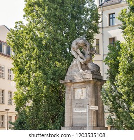 A monument devoted to Rudolf Virchow, who was a German scientist, biologist, a doctor and politician. Berlin, Germany.