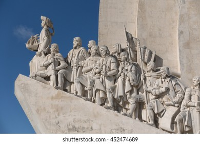 Monument to the Discoveries (Padrao dos Descobrimentos) celebrates the Portuguese Age of Discovery during the 15th and 16th centuries. It is located on the Tagus River in Belem, Lisbon, Portugal.