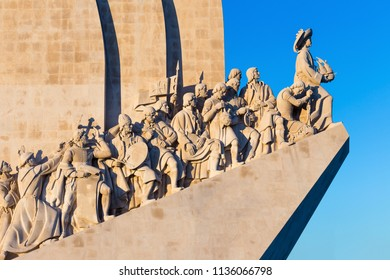 Monument of the discovery in summer Lisbon Portugal