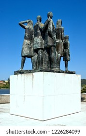 Monument to the emigrants in Pateira de Fermentelos, Portugal