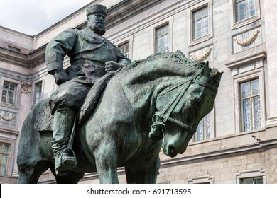 Monument to Emperor Alexander III in front of Marble Palace in St. Petersburg