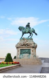 Monument to Eugene of Savoy near the Royal Palace of Budapest, Hungary
