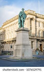 The monument of Georg in Edinburg, Scotland. Edinburg, 19th November 2015
