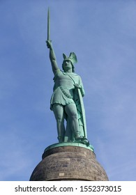 Monument of the Germanic chieftain Arminius (Germanized as Hermann), built between 1838 and 1875 to celebrate the victory over the Roman legions in the Teutoburg Forest in the year 9 CE.