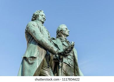 Monument to Goethe and Schiller in Weimar