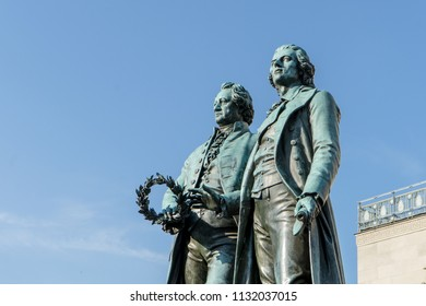 Monument to Goethe and Schiller in Weimar