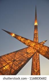 Monument in Goiania Goias Brazil