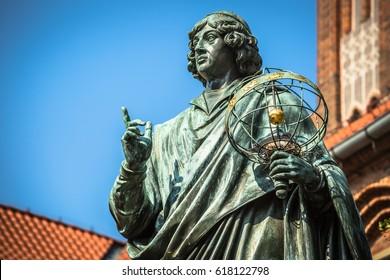 Monument des großen Astronauten Nicolaus Kopernicus, Torun, Polen