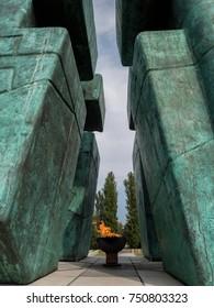 Monument of homeland war in Vukovar, Croatia close up