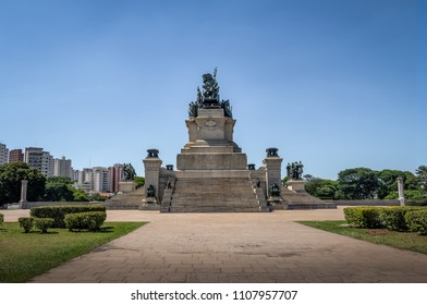 Monument to the Independence of Brazil (Monumento a Independencia do Brasil) at  Independence Park (Parque da Independencia) in Ipiranga - Sao Paulo, Brazil