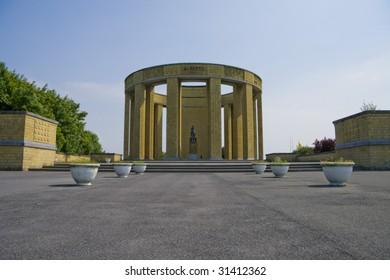 Monument for king Albert I of Belgium in Nieuwpoort