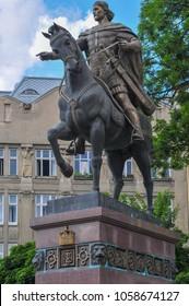 Monument to King Danilo on horseback in Lvov, Western Ukraine.