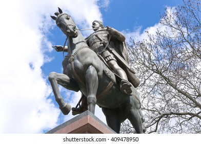 Monument. King on a horse of stone