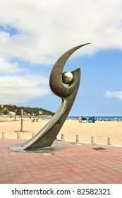 Monument in Lloret de Mar, Catalonia, Spain