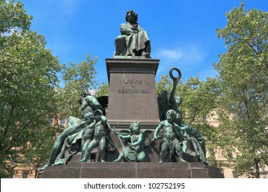 Monument of Ludwig van Beethoven in the 1st district of Vienna, Austria. It was unveiled in 1880.