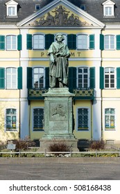 The monument of Ludwig van Beethoven in the city of Bonn