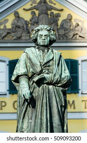 The monument of Ludwig van Beethoven in the city of Bonn, Germany
