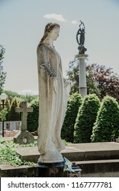 Monument in Lychakiv Cemetery a famous and historic cemetery in Lviv, Ukraine