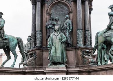 Monument to Maria Theresa in Vienna on the square near the Museum of Natural History.