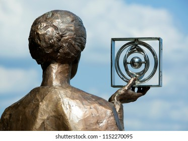 The monument for Marie Sklodowska Curie, the only person that won a Nobel Prize in two different sciences (Warsaw, Poland).