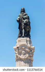 Monument to the Marquis of Pombal the prime-minister who rebuilt the old town of Lisbon after the earthquake of 1755 in Lisbon, Portugal