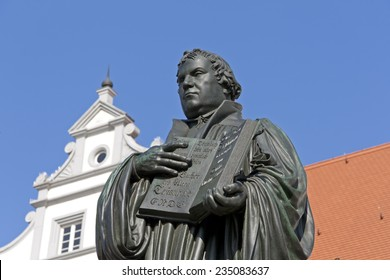 Monument of Martin Luther. It was the first public monument of the reformer, designed 1821 by J. G. Schadow, Wittenberg. Luther was a monk, theologian and the translator of the bible into German.